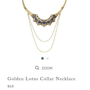 Golden lotus coat necklace chloe gold